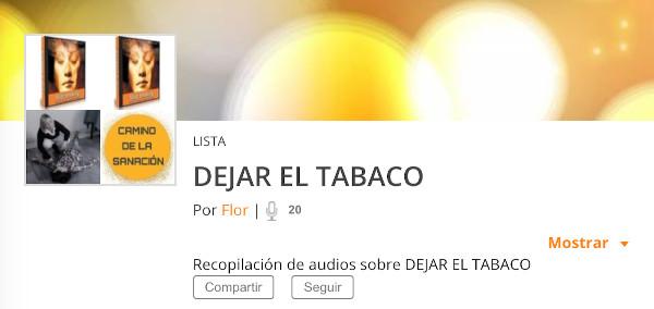 lista podcast dejar el tabaco